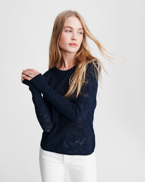 RAG & BONE Perry Cotton Crew
