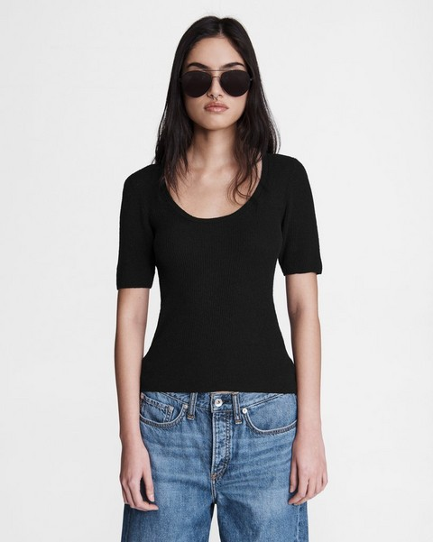 RAG & BONE Sunny Cotton Scoop Neck
