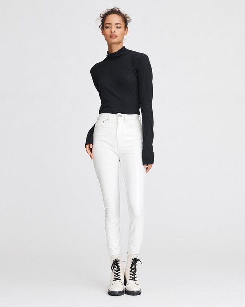 RAG & BONE SUPER HIGH-RISE ANKLE SKINNY VINYL