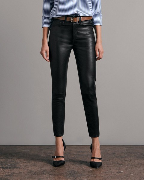 RAG & BONE Nina High-Rise Skinny Leather Pant
