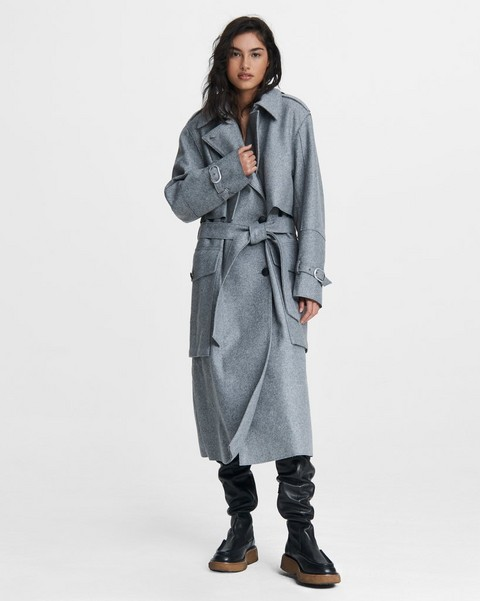 RAG & BONE Jonah Wool Blend Trench