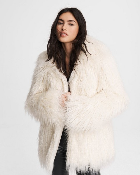 RAG & BONE Adelyn Mongolian Faux Fur Reversible Coat