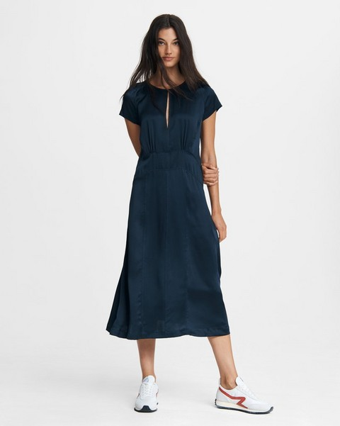 RAG & BONE FLORA MOTO Midi DRESS