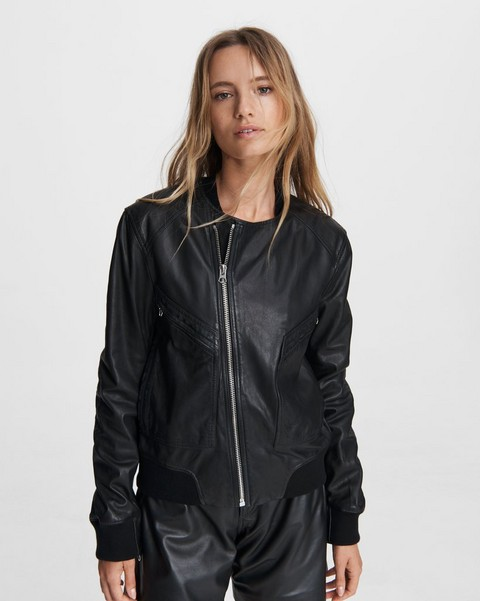 RAG & BONE Leather Flight Bomber
