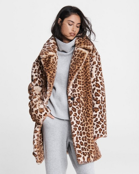 RAG & BONE Emma Faux Fur Leopard Coat