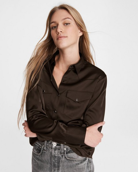 RAG & BONE Wyatt Viscose Blend Shirt