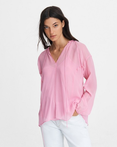 RAG & BONE MELODY SILK BLEND BLOUSE