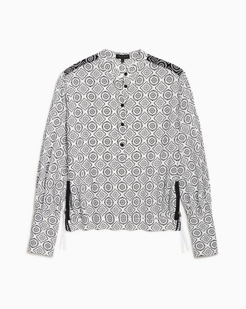 RAG & BONE TALLULAH  PRINTED VISCOSE BLOUSE
