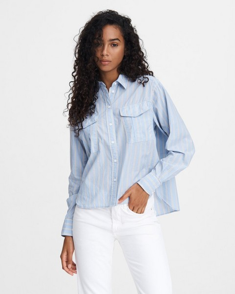 RAG & BONE FLORIAN CROPPED SLUB SHIRT