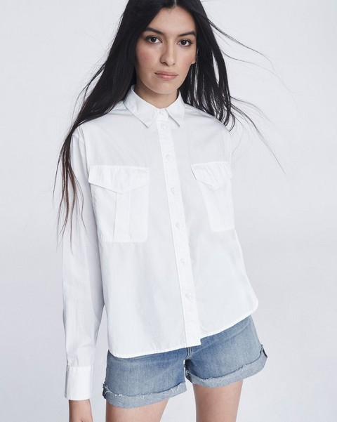 RAG & BONE FLORIAN CROPPED SHIRT