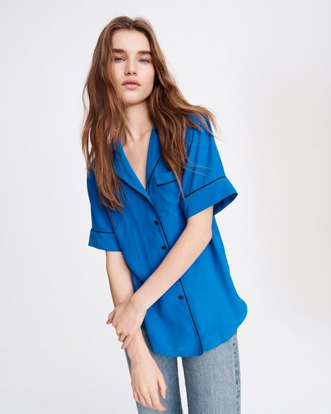 RAG & BONE LUCA SHORT SLEEVE PJ TOP