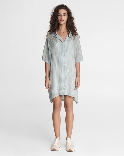 RAG & BONE Reed Printed Mini Shirt Dress