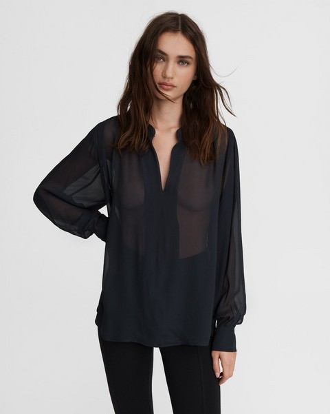 RAG & BONE Carly Viscose Blouse