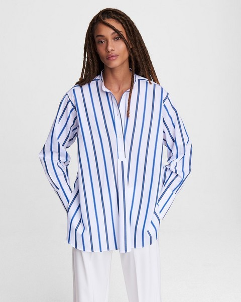 RAG & BONE Allison Striped Cotton Tunic