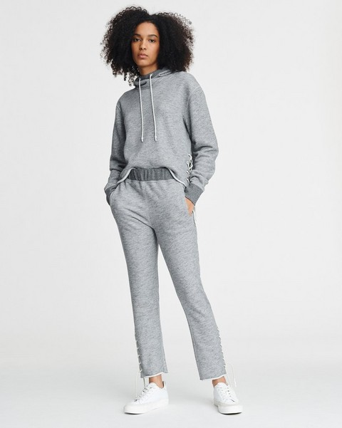 RAG & BONE AMELIA LACE UP SWEATPANT