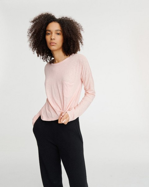 RAG & BONE THE SLUB CROPPED LONGSLEEVE