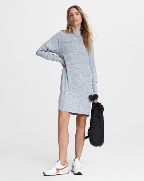 RAG & BONE Knit Racer Turtleneck Dress