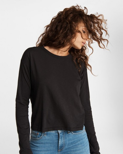 RAG & BONE The Slub Cropped Long Sleeve