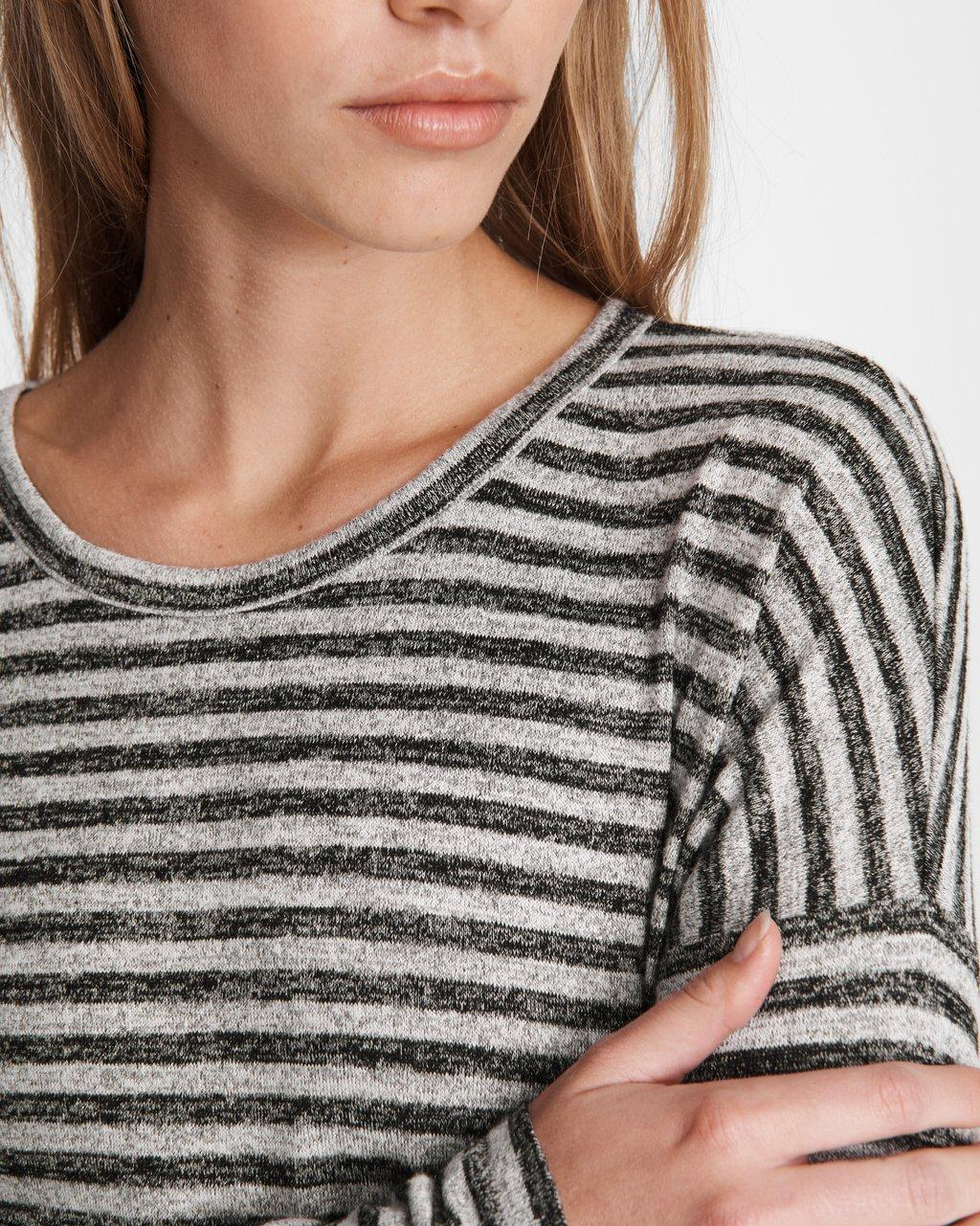 Coast Long Sleeve Relaxed Fit Knit Nightshirt 19CCS334 Red//Grey Stripe