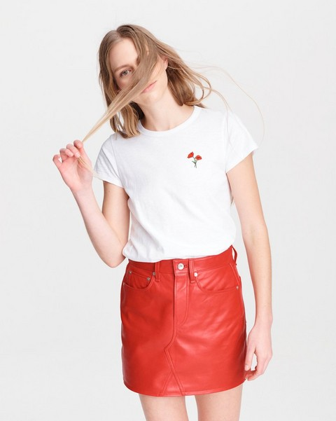 RAG & BONE POPPY FLOWER SLUB TEE