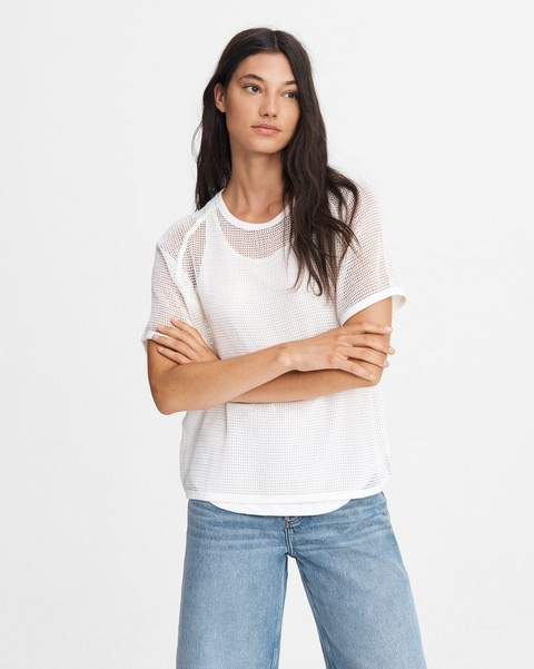RAG & BONE DOUBLE LAYER MESH TEE