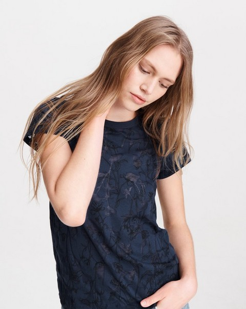 RAG & BONE ALL OVER POPPY PRINT TEE
