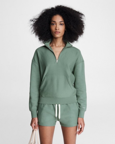 RAG & BONE City Half Zip Terry Pullover