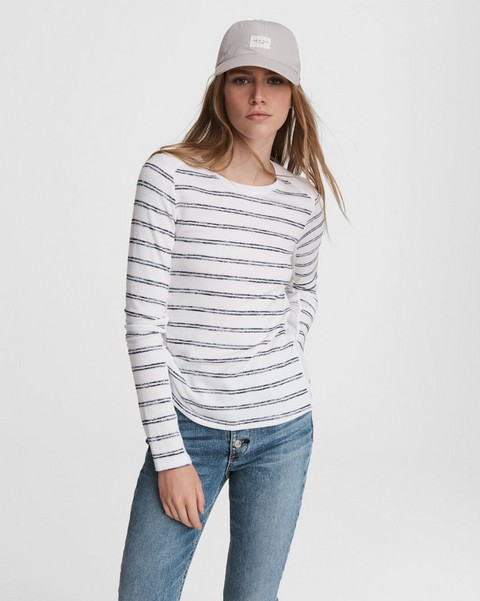 RAG & BONE The Knit Summer Striped Long Sleeve