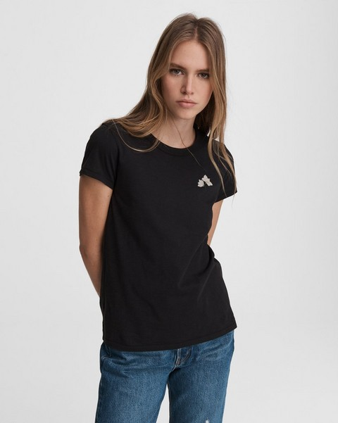 RAG & BONE Lily Flower Cotton Tee