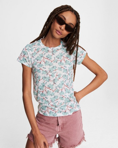 RAG & BONE All Over Lily Vine Jersey Tee
