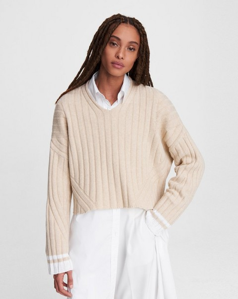 RAG & BONE Serena Wool Blend V-Neck