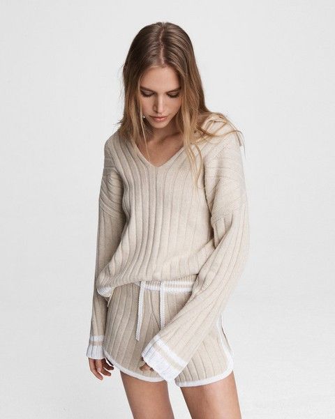 RAG & BONE Serena Wool Blend Polo Tunic