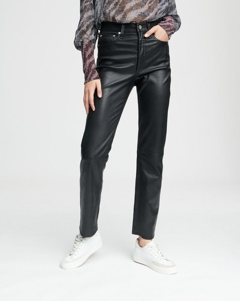 RAG & BONE JANE SUPER HIGH-RISE CIGARETTE LEATHER