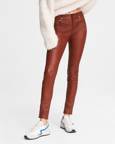 RAG & BONE Nina High-Rise Leather Skinny Pant