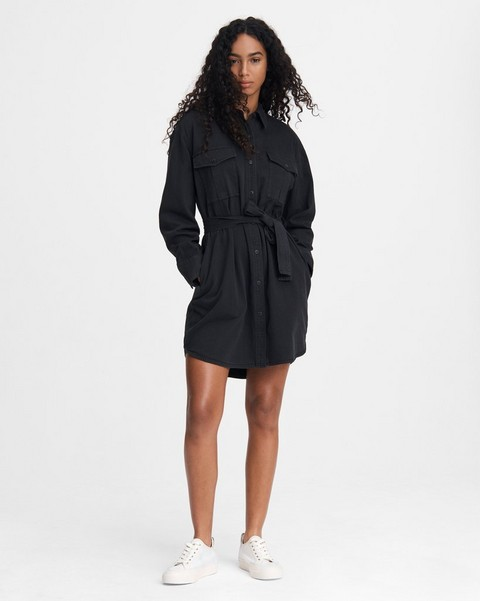 RAG & BONE FULL PLACKET MINI SHIRT DRESS