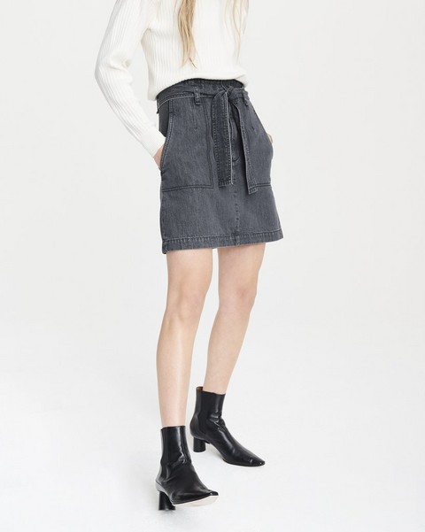 RAG & BONE SUPER HIGH RISE DARTED SKIRT