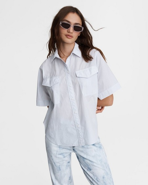RAG & BONE Florian Cropped Cotton Shirt