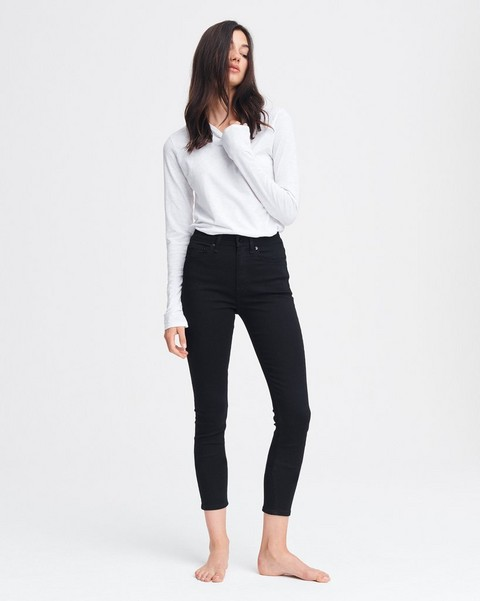 RAG & BONE Nina High-Rise Skinny - No Fade Black