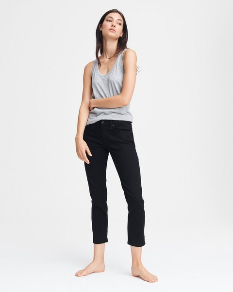 RAG & BONE Dre Low-Rise Boyfriend - No Fade Black