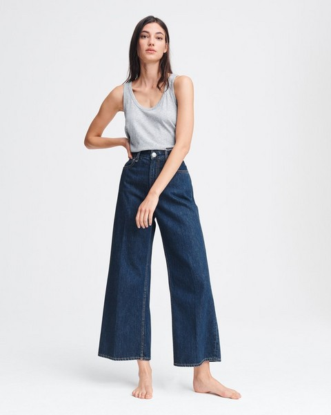 RAG & BONE Ruth Super High-Rise Wide Leg - Cote D Azur