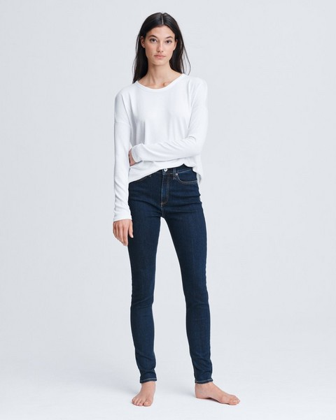RAG & BONE Nina High-Rise Skinny - Marine Blue