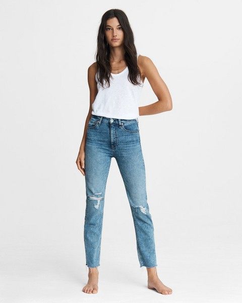 RAG & BONE Nina High-Rise Cigarette - Bloomfield