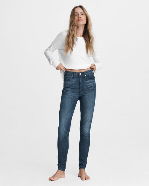 RAG & BONE Nina High-Rise Skinny - Grace Bay