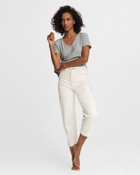 RAG & BONE 90s High-Rise Straight - Shell
