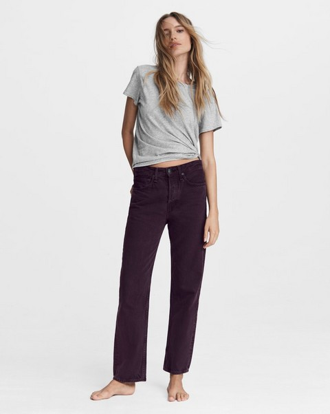 RAG & BONE Maya High-Rise Slim - Native Plum