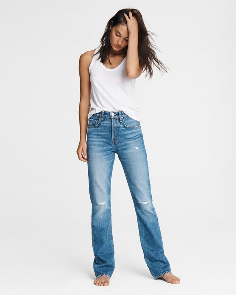 RAG & BONE Maya High-Rise Bootcut - Aquarius