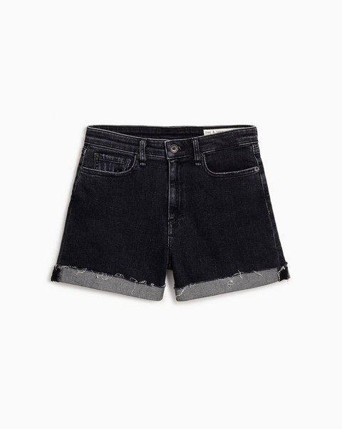 RAG & BONE Nina High-Rise Short - Washed Black