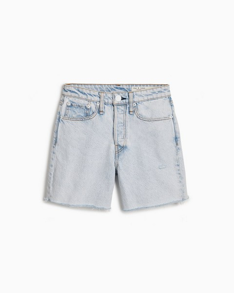 RAG & BONE Maya High-Rise Midi Short - Nevada Blue