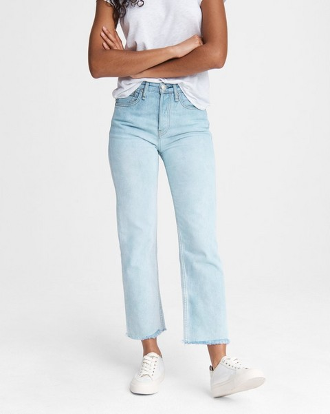 RAG & BONE Maya High-Rise Straight - Teal North Shore