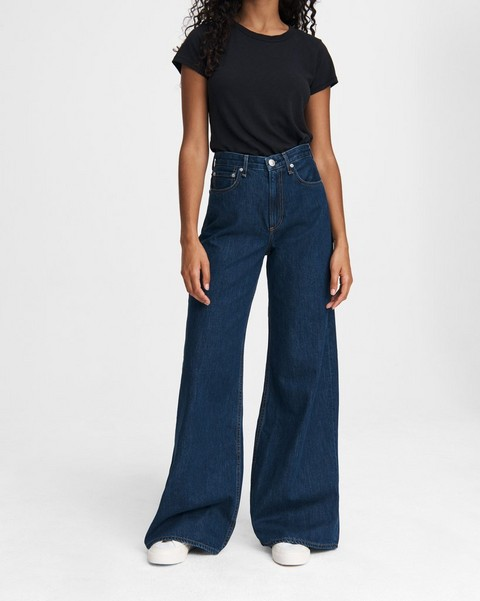 RAG & BONE Ruth Super High-Rise Ultra Wide Leg - Cote D Azur